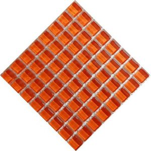 Crystal Glass tangerine 10 by 10